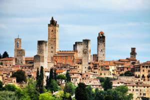 The towers of San Gimignano in Tuscany Italy